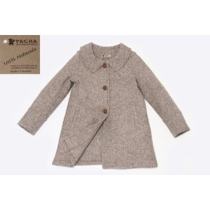 WOOL AND COTTON-BLEND COAT