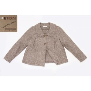 SHORT COAT, MIXED WOOL AND COTTON